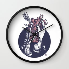 Holding heart Wall Clock