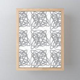 Curvy1Print Grey and White Framed Mini Art Print