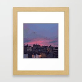 Fire in the Sky (sketching) Framed Art Print