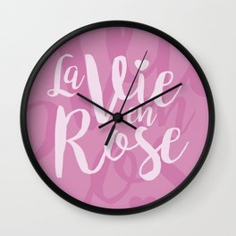 La vie en rose (pink mood) Wall Clock