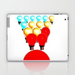THE MARCH OF THE LIGHTBULBS Laptop & iPad Skin