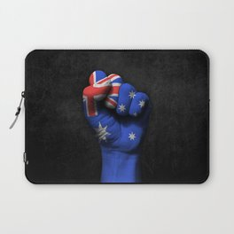 Australian Flag on a Raised Clenched Fist Laptop Sleeve