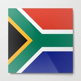 flag south africa, African,Afrikaans,Mandela,apartheid, Johannesburg,Soweto,Pretoria,Durban,Tembisa Metal Print