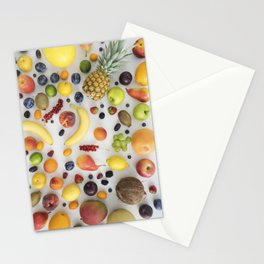 Collection of summer fruits Stationery Cards