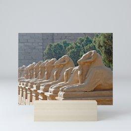 Ram-headed Sphinxes in Karnak Mini Art Print