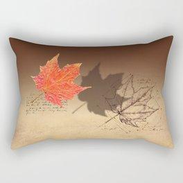 Fall, Maple Leaf, Deconstructed Rectangular Pillow