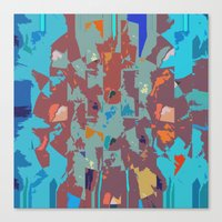 camo Canvas Prints featuring Camo by Lara Gurney
