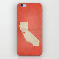 san francisco map iPhone & iPod Skins featuring San Francisco by Fercute