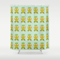 golf Shower Curtains featuring GOLF by Sucoco