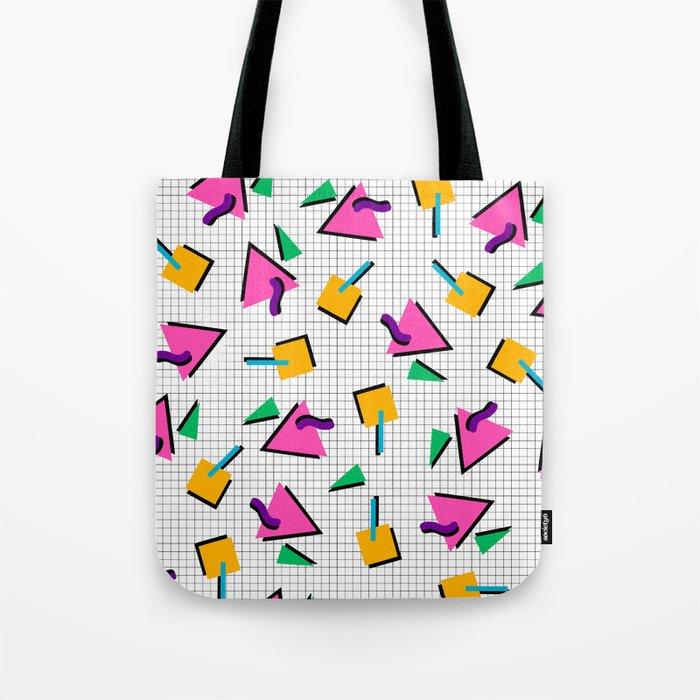 d85aa90cc3 90 s Geometric Print Tote Bag by hannahdrennan