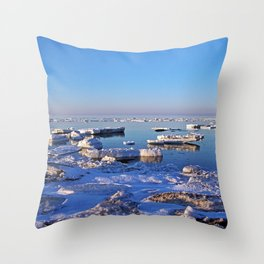 Field of Ice on the Sea Throw Pillow