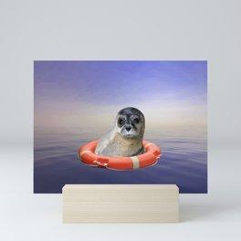 Livebuoy Sea Lion Animal Seal - Ocean Sea  Mini Art Print