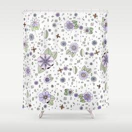 Violetas Shower Curtain