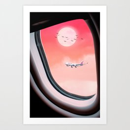 See the planes in the sky by GEN Z Art Print