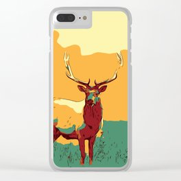 Buck Deer art, Deer Decor, Deer Print, Deer Painting, Deer Poster, Deer Wall Art, Animal Art Print. Clear iPhone Case