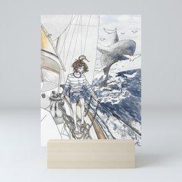 The greeting Mini Art Print