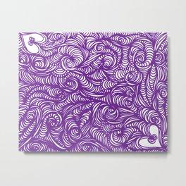 Seeing Purple Metal Print