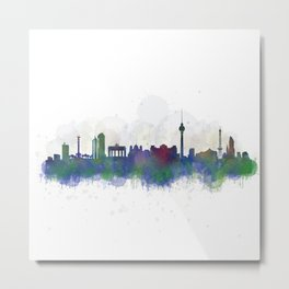Berlin City Skyline HQ3 Metal Print