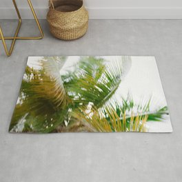 Moving palms | Dominican Republic travel photography Rug