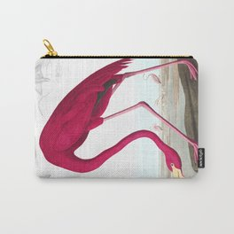 American Flamingo John James Audubon Vintage Scientific Hand Drawn Illustration Birds Carry-All Pouch