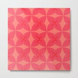 Grapefruit Pattern Metal Print
