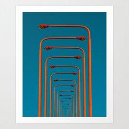 of light poles III Art Print