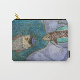 Marine Encounters [Purple Version with Seashells] Carry-All Pouch