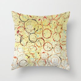 Vintage Circle Design Throw Pillow