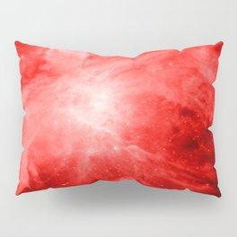 Vibrant Red orion nebula Pillow Sham
