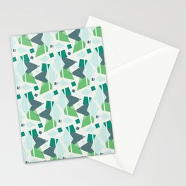 Fragmented Shapes Stationery Cards