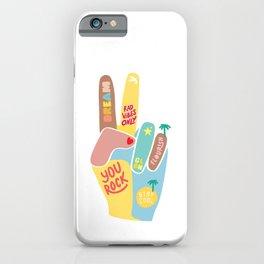 Motivational Peace Sign iPhone Case
