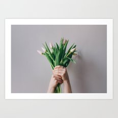 Yay Tulips! Art Print