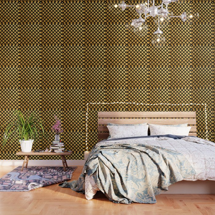 Black And Gold Geometric Pattern Wallpaper By Epoliveira