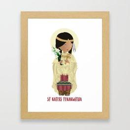 St Kateri Tekakwitha Framed Art Print