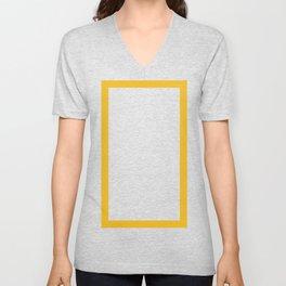 Shapes & Friends: Orange Yellow Rectangle Unisex V-Neck