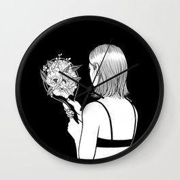Fall in love with myself first Wall Clock