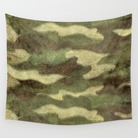 camo Wall Tapestries featuring Dirty Camo by Bruce Stanfield