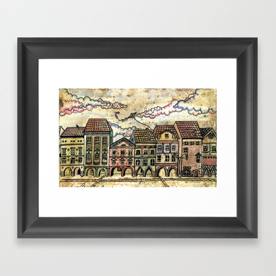 """Danish houses"" Framed Art Print"