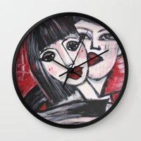 xoxo Wall Clocks featuring XOXO by sladja