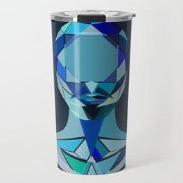 Diamond man Portrait Travel Mug
