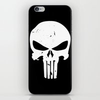 punisher iPhone & iPod Skins featuring The Punisher by sokteulu