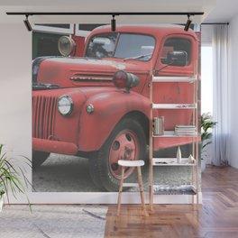 Vintage Fire Truck Full Wall Mural