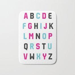 Typography Alphabet #1 Bath Mat