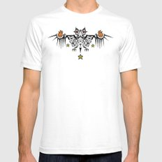 Fire Bat Mens Fitted Tee SMALL White