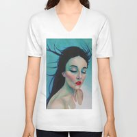 swallow V-neck T-shirts featuring Swallow by Bridget Baldwin