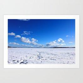 Frozen Horizon Art Print