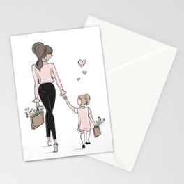 Love You Mom Stationery Cards
