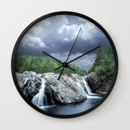 Falls at the Aguasabon River Mouth in Ontario Canada Wall Clock