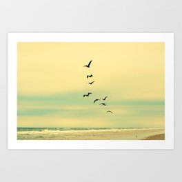 Across the Endless Sea Art Print