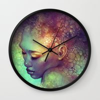 camouflage Wall Clocks featuring Camouflage by Anna Dittmann